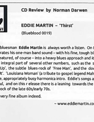 """A Very Fine Album indeed"" Harmonica World review"